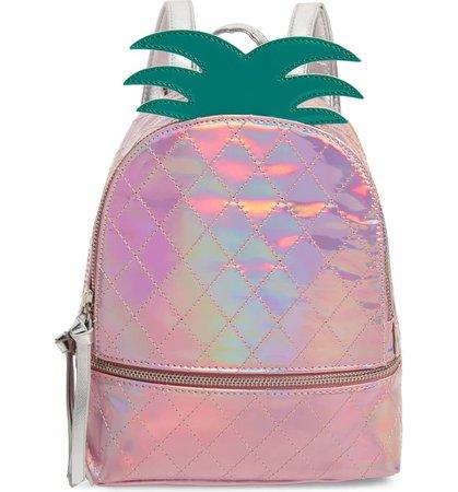 Under One Sky Mini Iridescent Pineapple Backpack (Girls)   Nordstrom