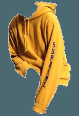 Yellow hoodie polyvore moodboard filler | pngs in 2018 | Pinterest | Yellow, Yellow hoodie and Hoodies