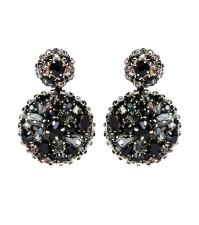 Crystal-Embellished Disk Earrings - Oscar de la Renta   mytheresa