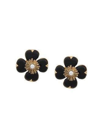 Goossens Flower Earrings GOOXXEA064 Black | Farfetch