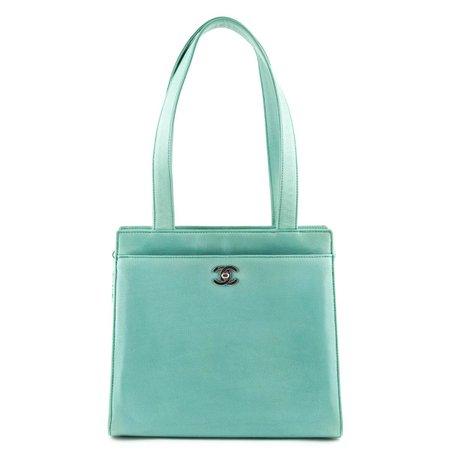 Chanel green mint bag
