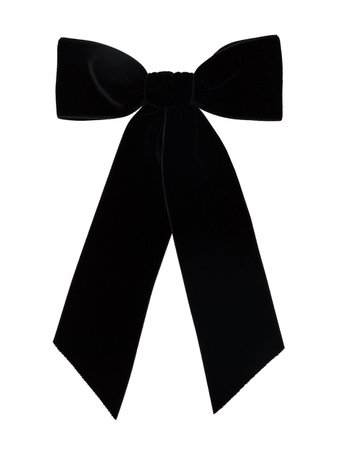Black Jennifer Behr Wide Bow Hair Clip | Farfetch.com