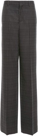 High-Rise Striped Wool Wide-Leg Pants