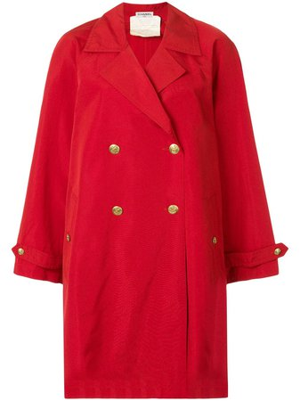 Chanel Pre-Owned Long Sleeve Coat - Farfetch