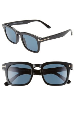 Tom Ford Dax 50mm Polarized Square Sunglasses   Nordstrom