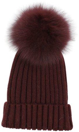 Ursa Beanie with Geniune Fox Fur Pom