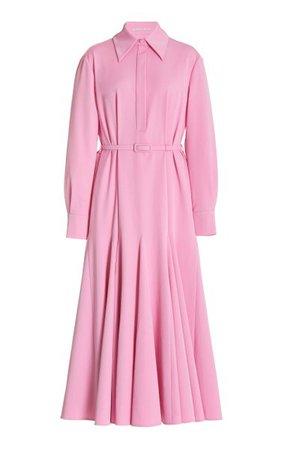 Marion Belted Poplin Midi Shirt Dress By Emilia Wickstead | Moda Operandi