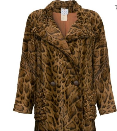 Fendi faux fur leopard coat