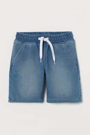 Denim Pull-on Shorts - Blue