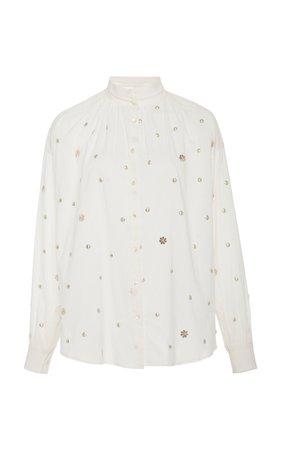 Alix of Bohemia Luna Studded Cotton Shirt