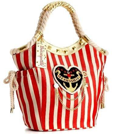 Betsey Johnson Betseyville Sailor Girl Tote