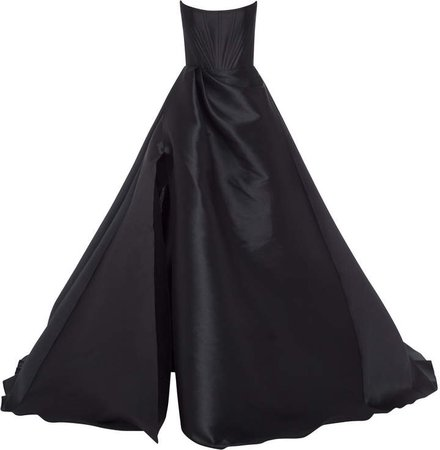 Alex Perry Denver Draped Satin Strapless Gown