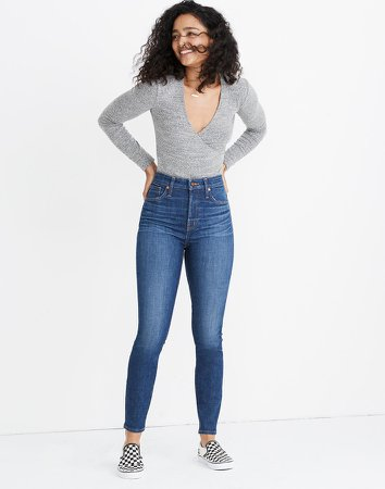 Curvy High-Rise Skinny Jeans in Moreaux Wash