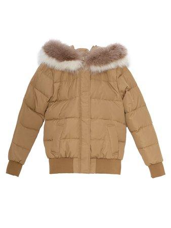 EmiriaWiz ファッション通販 | マルチカラーFOXファーショートダウンコート ブラウン