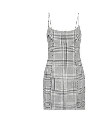 Alexander Wang | Checked woven mini dress