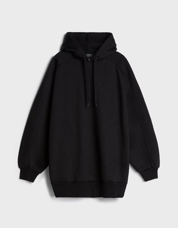Oversized hoodie - Sweatshirts and Hoodies - Woman | Bershka