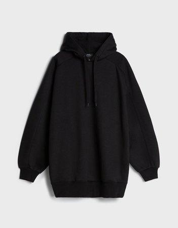 Oversized hoodie - Sweatshirts and Hoodies - Woman | Bershka