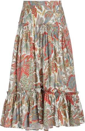 Cara Cara Tisbury Midi Ruffle Skirt