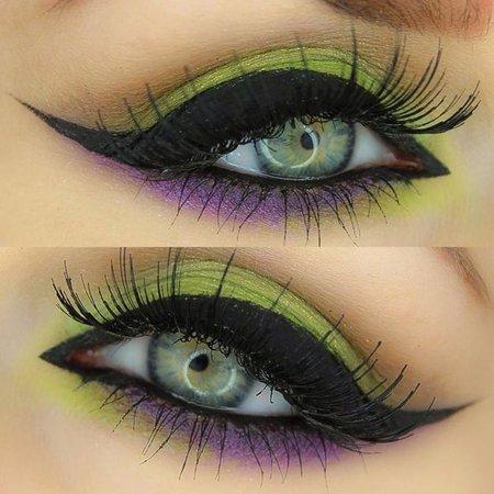 poison ivy eye makeup green lash - Google Search