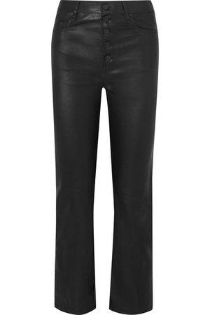Joseph | Den cropped leather straight-leg pants | NET-A-PORTER.COM