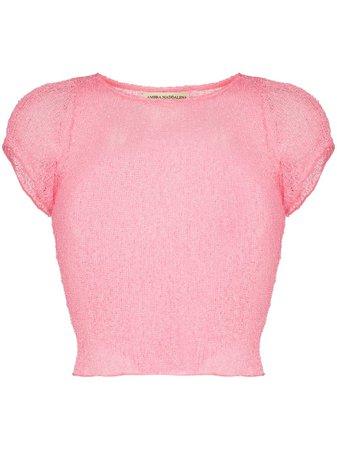 Ambra Maddalena semi-sheer cotton T-shirt - FARFETCH