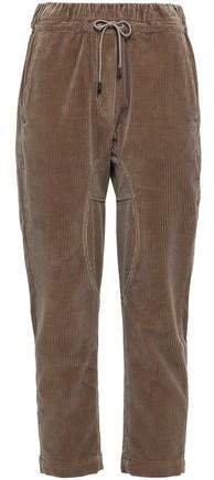 Cropped Cotton-corduroy Tapered Pants