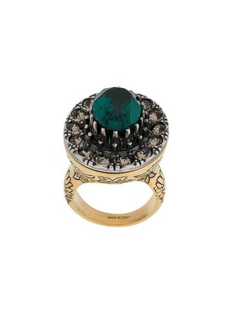 Alexander McQueen gem embellished ring