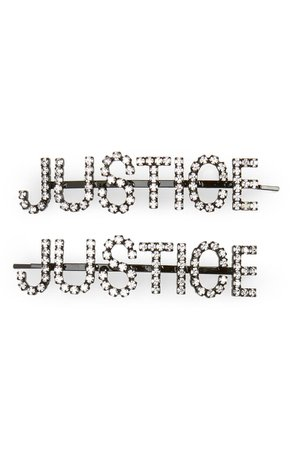 Ashley Williams Justice Set of 2 Crystal Hair Pins | Nordstrom