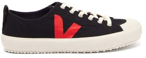 Nova V Logo Low Top Trainers - Womens - Black Red