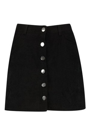 Button Through Cord A Line Mini Skirt | Boohoo