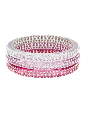 Marc Jacobs Crystal & Resin Bangle Set - Bracelets - MAR74329 | The RealReal