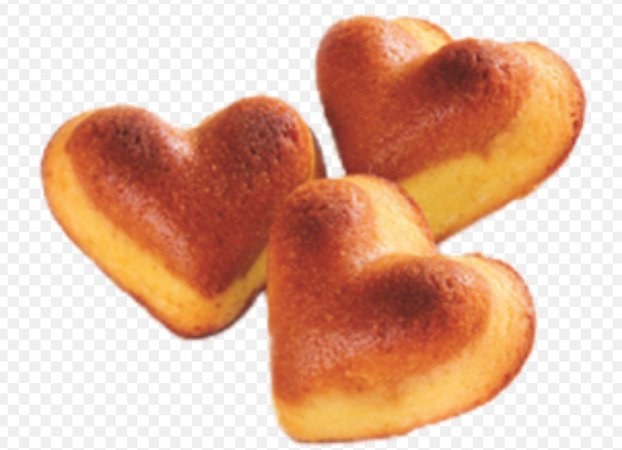 soft fluffy heart pastries