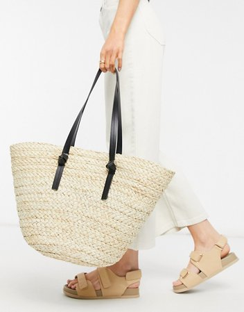 South Beach straw tote in natural | ASOS