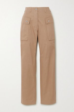 Loewe | Herringbone cotton cargo pants | NET-A-PORTER.COM