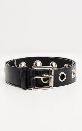 Black Eyelet Belt   Accessories   PrettyLittleThing