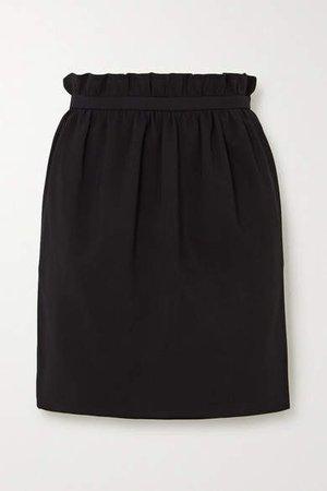 Crepe Mini Skirt - Black