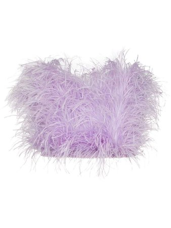 THE ATTICO ostrich feather bandeau top