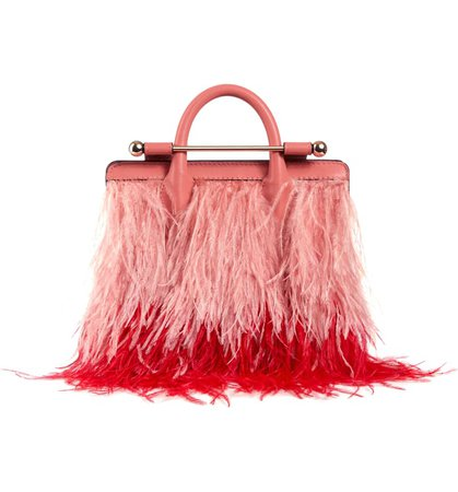 Strathberry Nano Feather & Leather Tote | Nordstrom