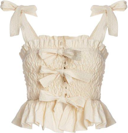 Faye Smocked Cotton Top