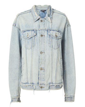 Oversized Distressed Denim Jacket | Ksubi | INTERMIX®