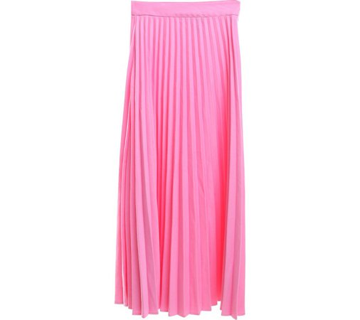 H&M Pink Pleated Maxi Skirt