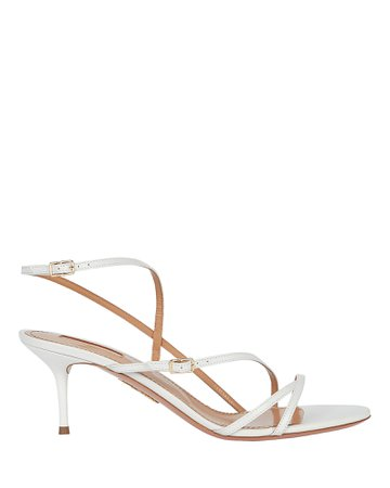 Aquazzura | Carolyne 60 Leather Sandals | INTERMIX®