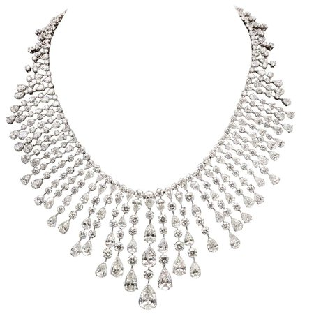 Diamond Drop Necklace For Sale at 1stDibs