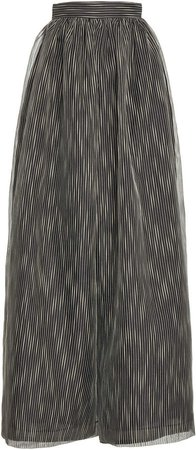Martin Grant Striped Cotton-Silk Wide-Leg Pants