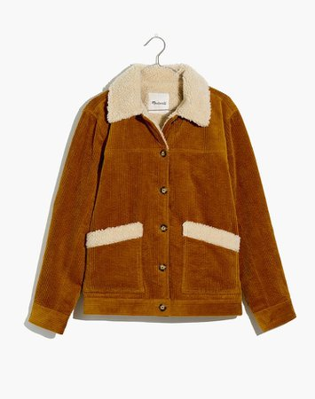 sherpa lined corduroy jacket