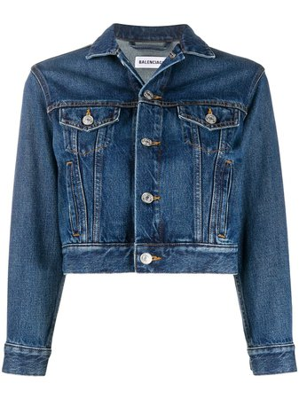 Balenciaga Cropped Denim Jacket - Farfetch