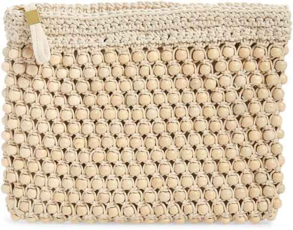 The Beaded Crochet Pouch Clutch
