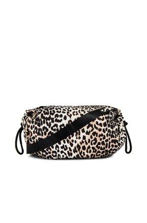 Ganni Leopard Print Shoulder Bag in Leopard   REVOLVE