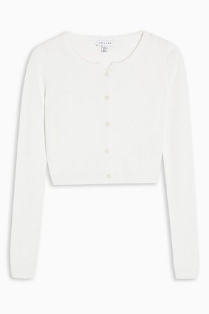 Ivory Button Through Knitted Cardigan | Topshop