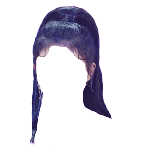 black hair png ponytail